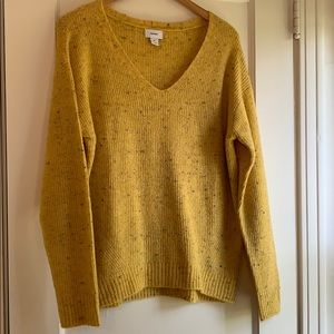 Old Navy Stretch Knit Fuzzy Sweater, Yellow/Multi